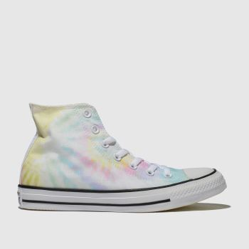 converse yellow & blue chuck taylor all star hi trainers