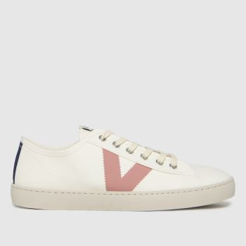 victoria White & Pink Berlin Canvas Womens Trainers