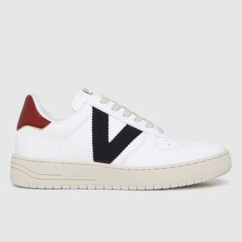 victoria White & Burgundy Always Vegan Womens Trainers