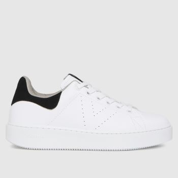 victoria White & Black Utopia Vegan Womens Trainers