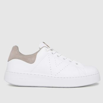 victoria White & Pink Utopia Vegan Womens Trainers