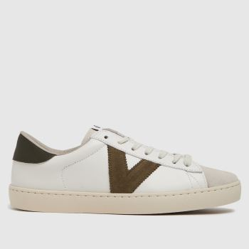 victoria White Berlin Leather Womens Trainers