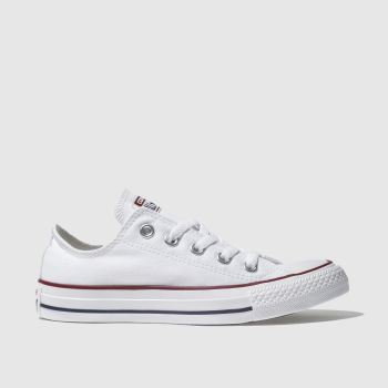 69ecd28f437359 Converse White All Star Oxford Womens Trainers