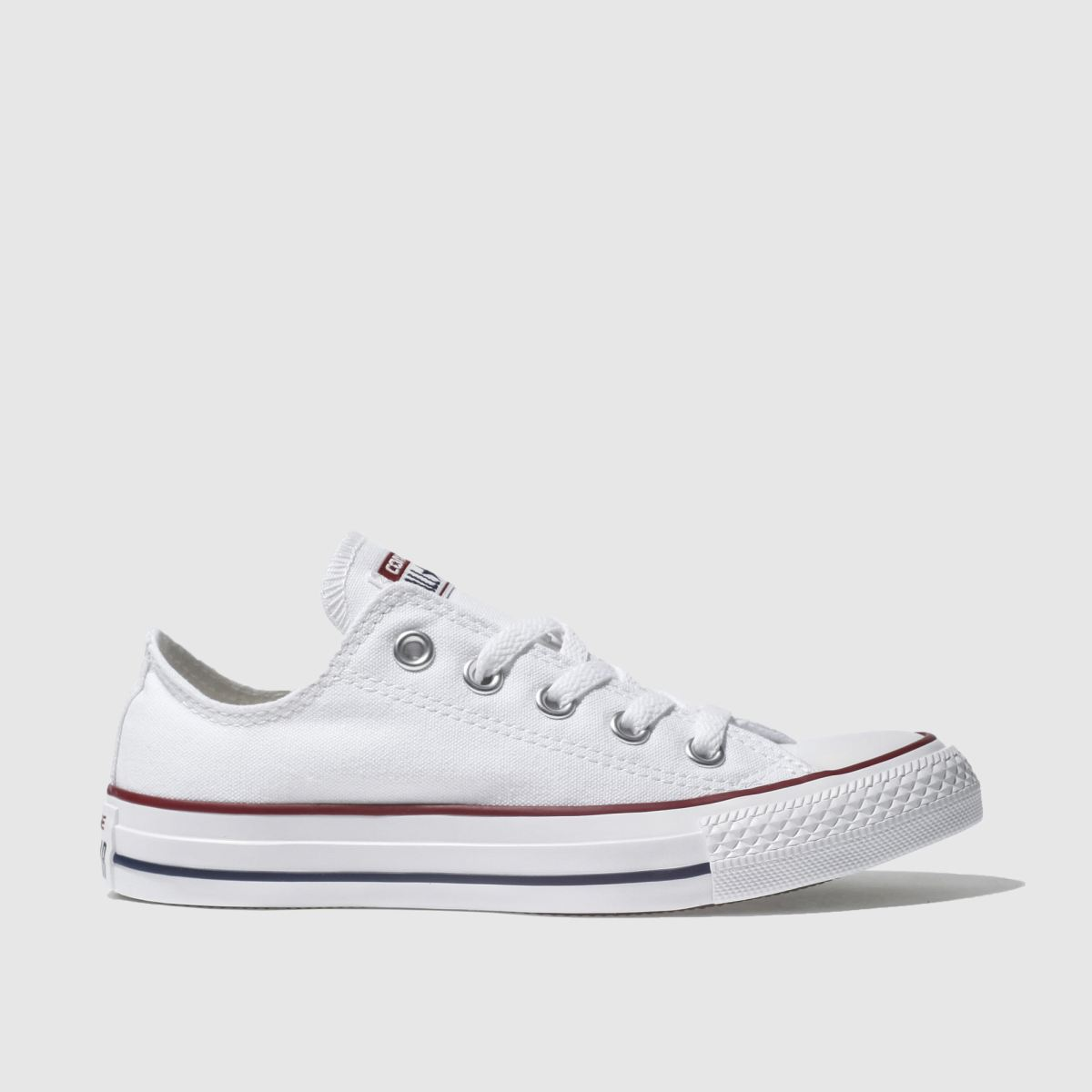womens white converse all star oxford trainers | schuh