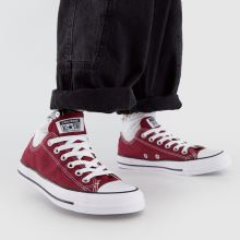 24474a14571 womens burgundy converse all star oxford trainers