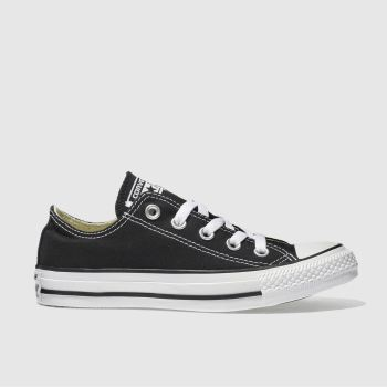 76b19cf8141d44 Converse Black All Star Oxford Womens Trainers