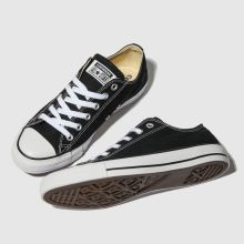 womens black converse all star oxford trainers  577e774a9