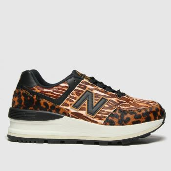 New balance Brown 574 Wedge Womens Trainers#