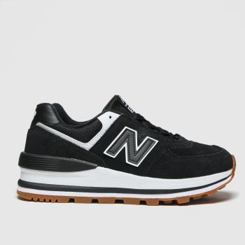 New balance Black 574 Wedge Womens Trainers