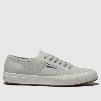 Superga Light Grey 2750 Cotu Classic Womens Trainers#