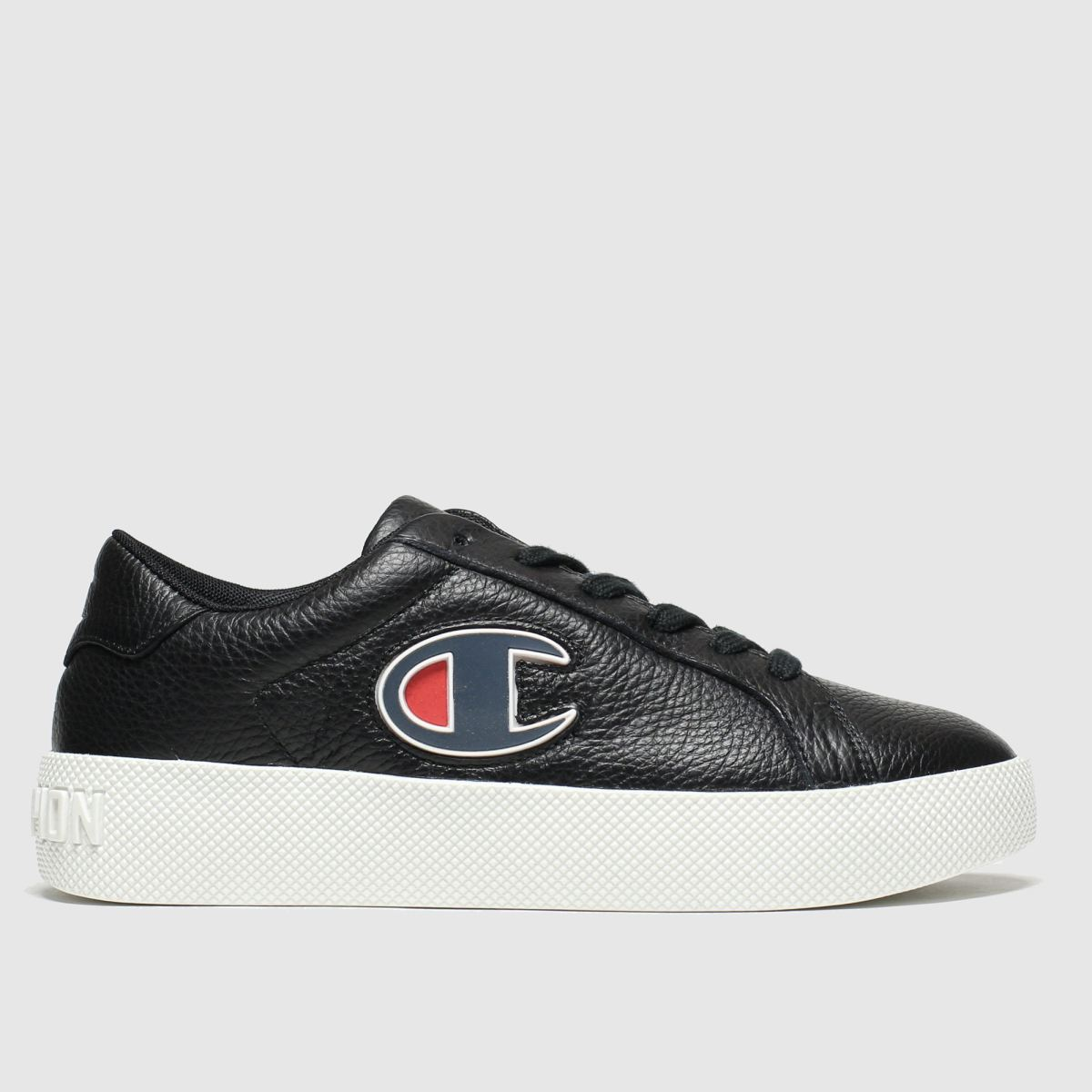 Champion Black & Navy Era Leather Trainers