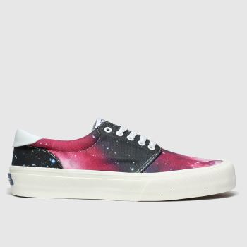 Straye Black & Red Fairfax Womens Trainers