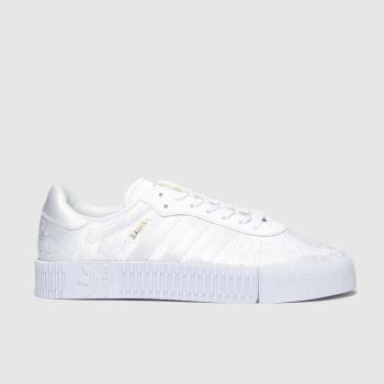 Adidas White & Gold Sambarose c2namevalue::Womens Trainers