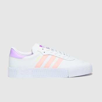 Adidas White & Pink Sambarose c2namevalue::Womens Trainers