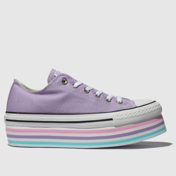Converse Lilac All Star Lift Rainbow Womens Trainers