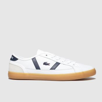Lacoste White & Navy Sideline c2namevalue::Womens Trainers