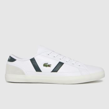 Lacoste White & Green Sideline Womens Trainers