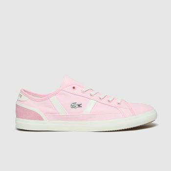 Lacoste Pale Pink Sideline Womens Trainers#