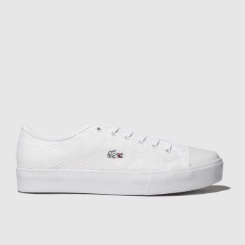 lacoste white ziane plus grand trainers