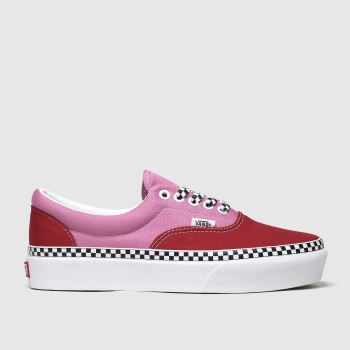 Vans White & Red Era Platform Womens Trainers