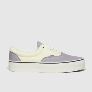 Vans White & Purple Era Platform Trainers
