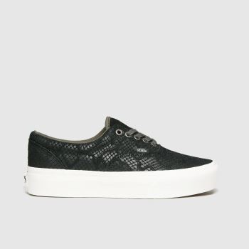Vans Black & White Era Platform Womens Trainers