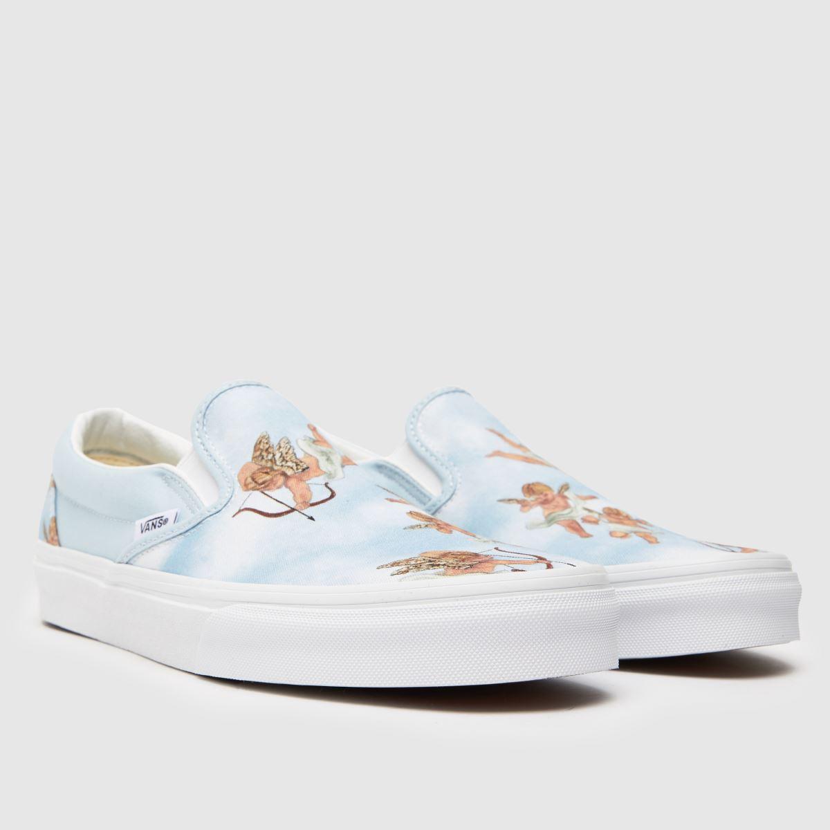 Damen Weiß-hellblau vans Classic Checkerboard Sneaker | schuh Gute Qualität beliebte Schuhe