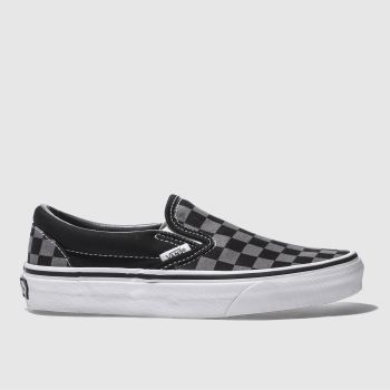 26ae3ba8e73d95 Vans Black   Grey Classic Checkerboard Womens Trainers