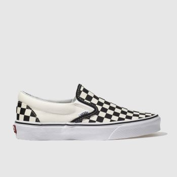 Vans Black   Cream Classic Checkerboard Womens Trainers 3c5abf98f
