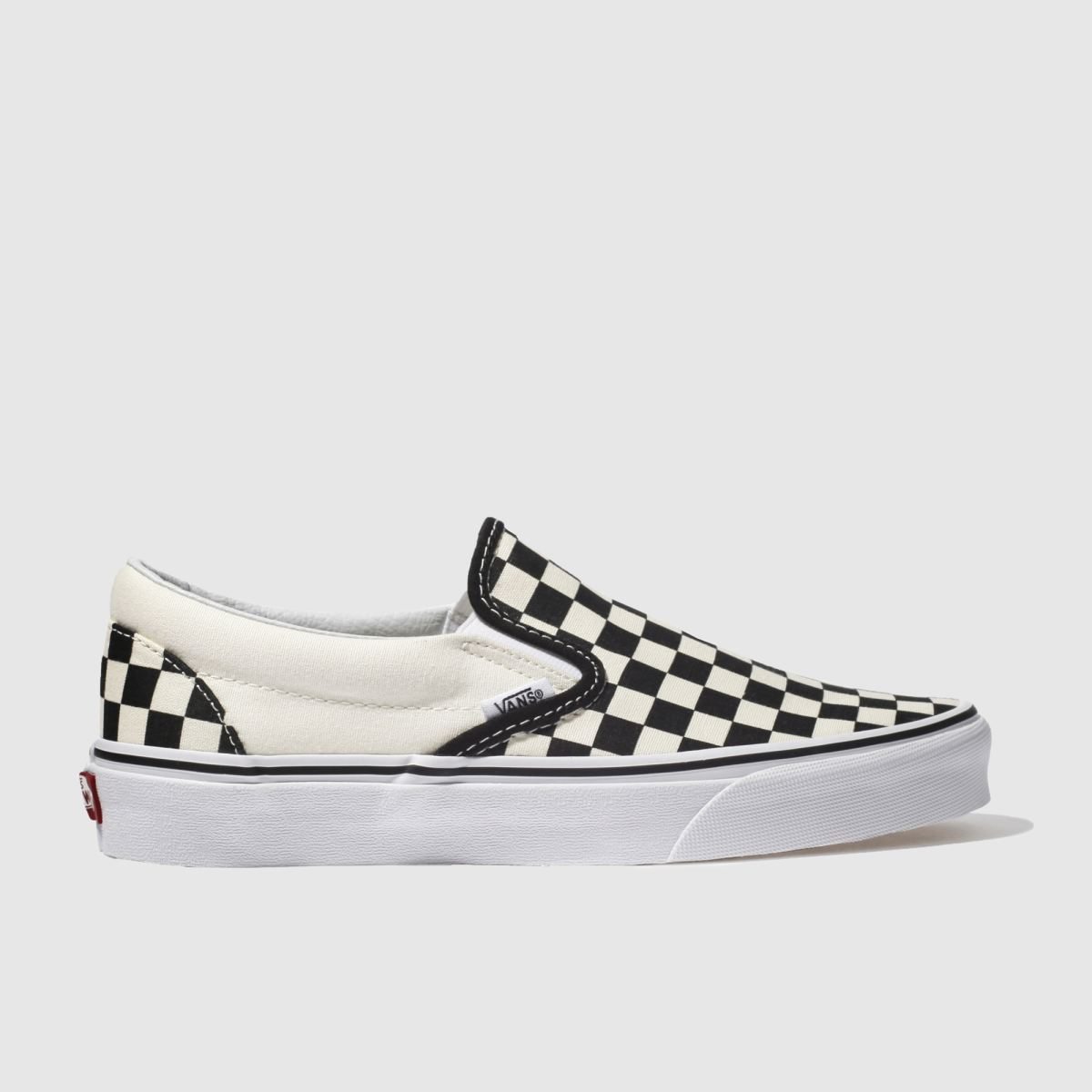 checked vans womens