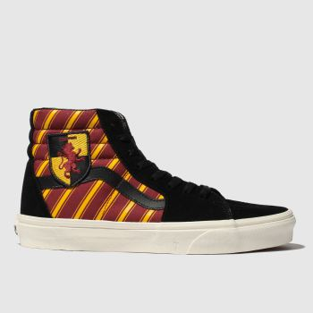 Vans Black & Red Hp Gryffindor Sk8-hi Womens Trainers