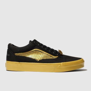 Vans Black & Gold Hp Golden Snitch Old Skool Womens Trainers