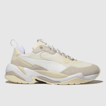 487abcef07c0b1 Puma White   Beige Thunder Nature Womens Trainers