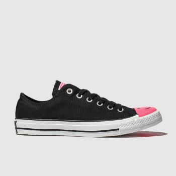 Converse Black & pink All Star Carnival Ox Womens Trainers