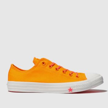 Converse Orange All Star Glow Up Ox Womens Trainers