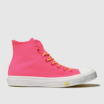 Converse Pink All Star Glow Up Hi Womens Trainers