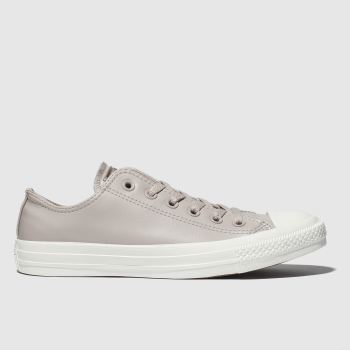 Converse light grey all star craft ox trainers