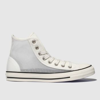 Converse White All Star See-through Hi Womens Trainers