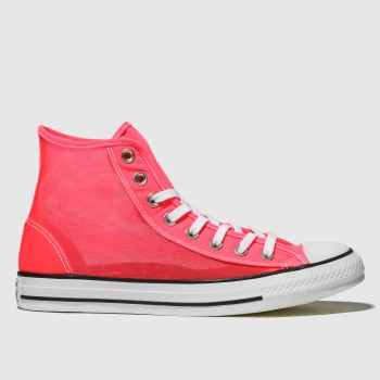 Converse Pink All Star See-through Hi Womens Trainers