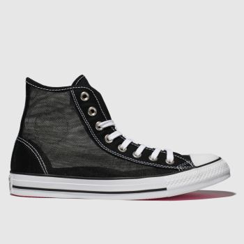 Converse Black & White All Star See-through Hi Womens Trainers
