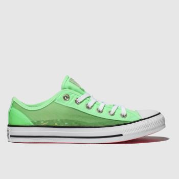 Converse Green All Star See-through Ox Womens Trainers
