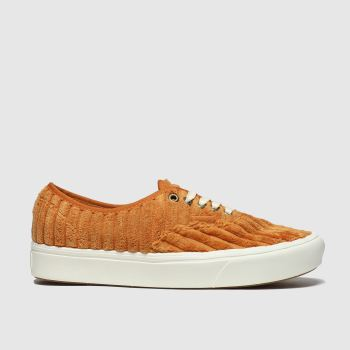 Vans Orange Comfycush Authentic Cord Womens Trainers