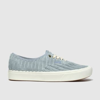 Vans Pale Blue Comfycush Authentic Cord Womens Trainers