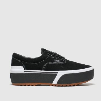 Vans Black & White Era Stacked Womens Trainers