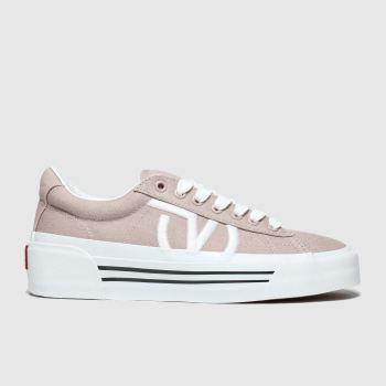 Vans Pale Pink Sid New Issue Womens Trainers