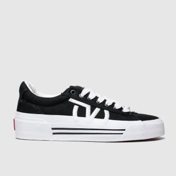 Vans Black & White Sid New Issue Womens Trainers