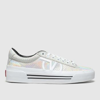 Vans Grey & Silver Sid New Issue Womens Trainers
