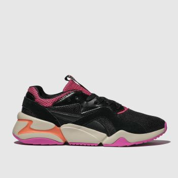 Puma Black & pink Nova Urban 90s Womens Trainers