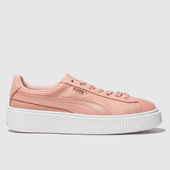 Puma Pale Pink Platform Shimmer c2namevalue::Womens Trainers