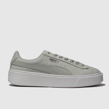 Puma Light Grey Platform Shimmer Womens Trainers